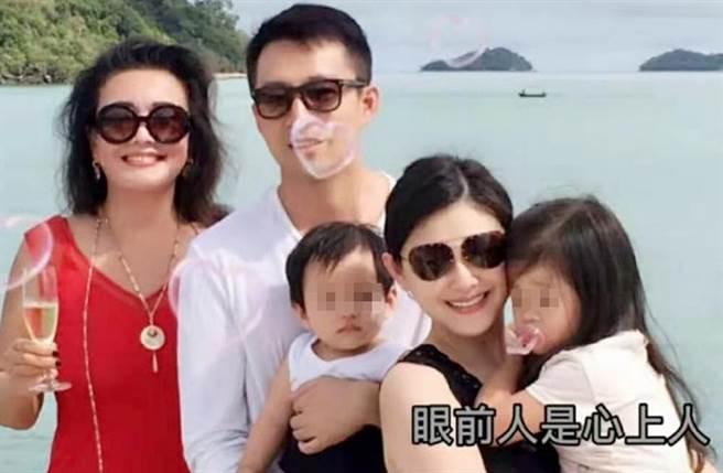 大S和汪小菲育有一兒一女。(圖/翻攝自微博)