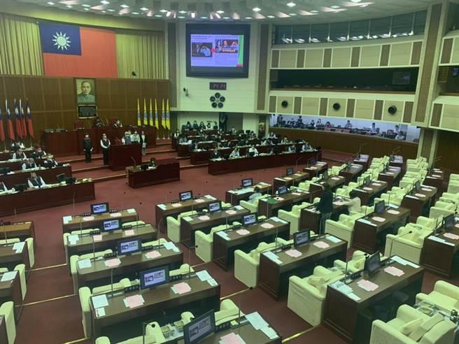台北市議會下午進行警政衛生部門質詢。(黃婉婷攝)