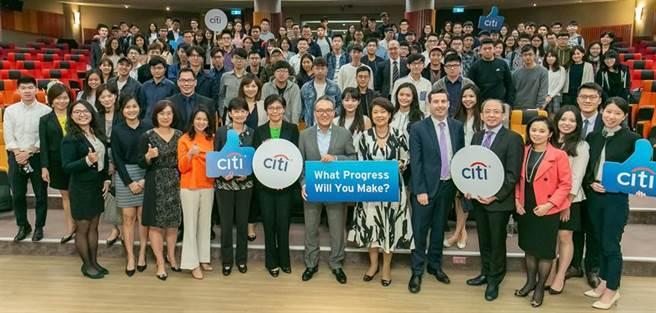 (花旗(台灣)銀行董總座常率高階主管到台大招募人才,圖為2018年活動。圖/業者提供)