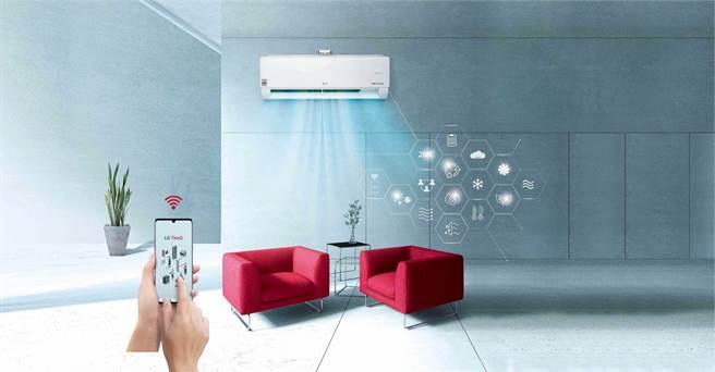LG DUALCOOL WiFi 雙迴轉變頻空調2021 全系列皆內建 WiFi 功能,打造更完整家用物聯網生態,讓消費者享受便利智慧生活。(LG提供/黃慧雯台北傳真)