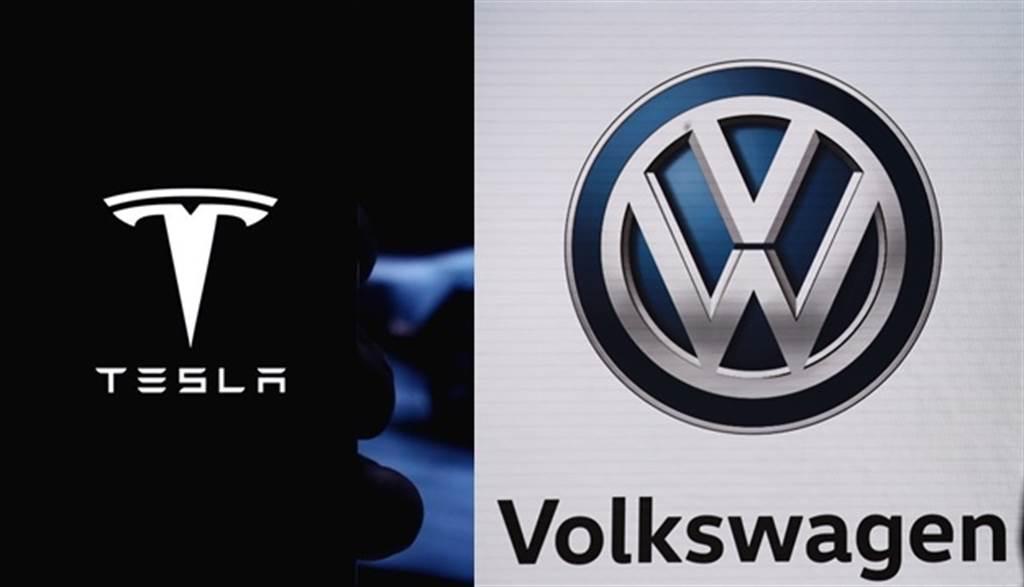 謝金河認為,下一場產業革命一定是電動車,VW能不能挑戰Tesla成功,值得拭目以待。(美聯社)