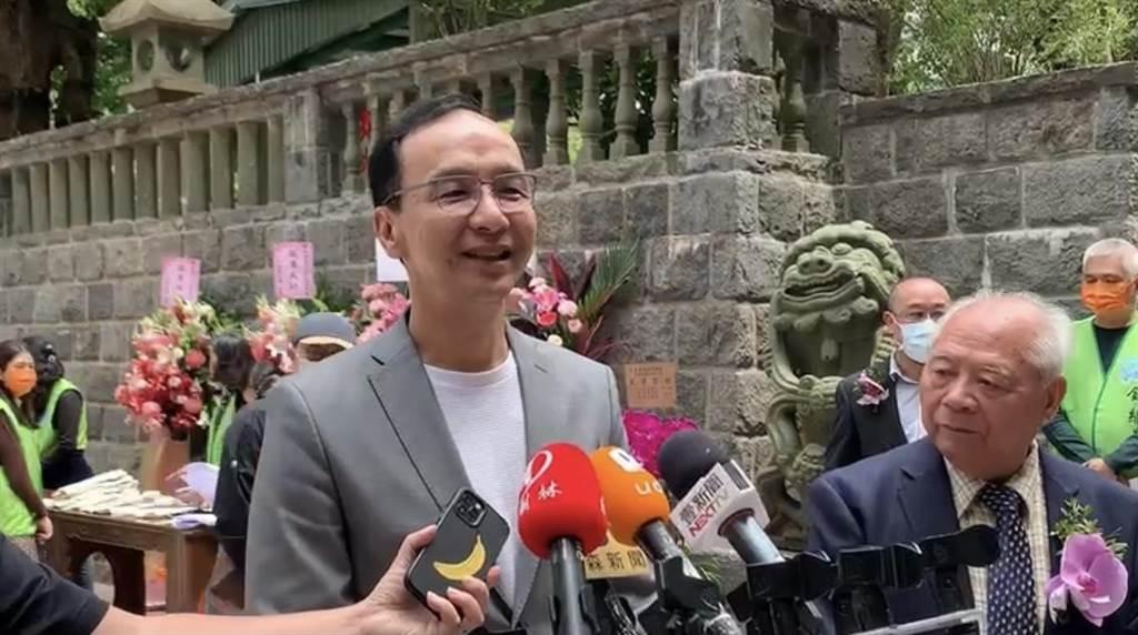 江啟臣、韓國瑜網路聲量贏過朱立倫 朱立倫:前段時間鮭魚先生聲量最高(戴上容攝)