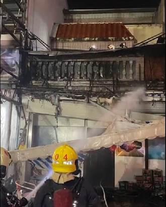 嘉義音樂會館失火 客人、員工逃出 幸無人傷亡