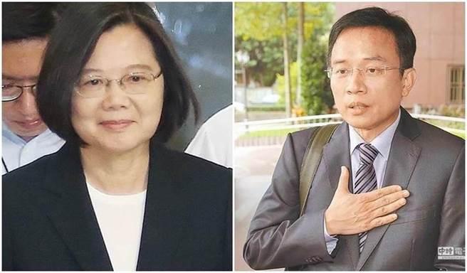 總統蔡英文(左)、媒體人彭文正(右)。(圖/合成圖,資料照)