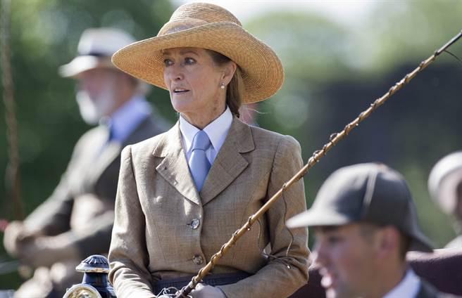 潘妮2015年5月17日參加英國皇家溫莎馬展(Royal Windsor Horse Show)活動的神情。(達志圖庫/TGP)