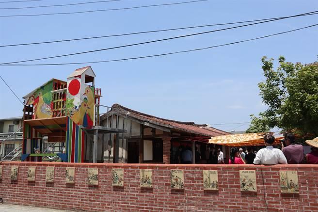 鹽水區竹埔社區「鴿笭巢博館」,是以鴿為名的藝文據點。(張毓翎攝)