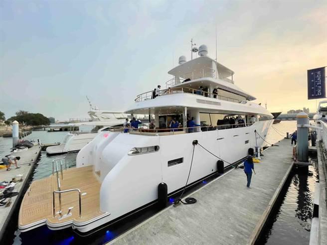 嘉信遊艇打造國內最大的125呎巨型遊艇,可望帶動遊艇內需市場。(高市海洋局提供/柯宗緯高雄傳真)