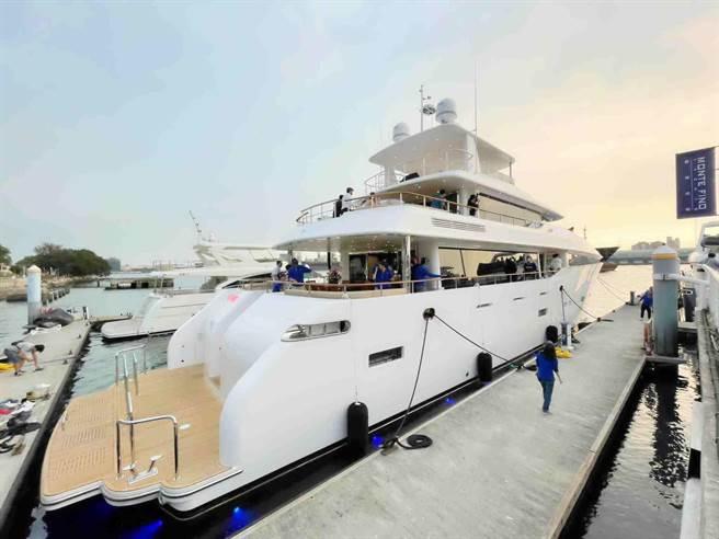 嘉信遊艇打造國內最大的125呎巨型遊艇,可望帶動遊艇內需市場。(柯宗緯攝)