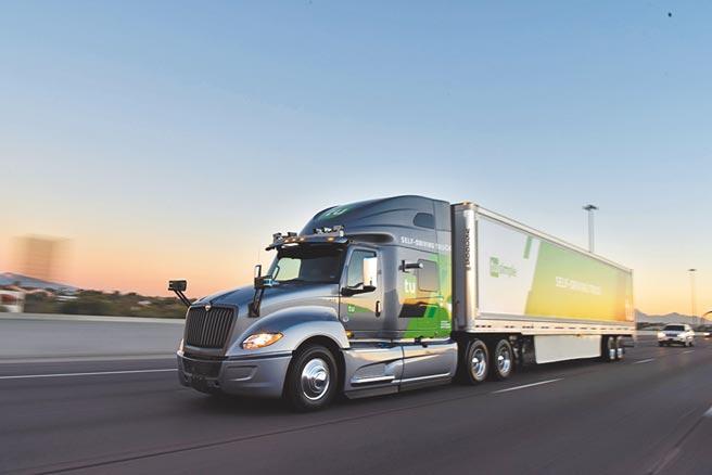 图为自驾卡车平台的图森未来。图/路透