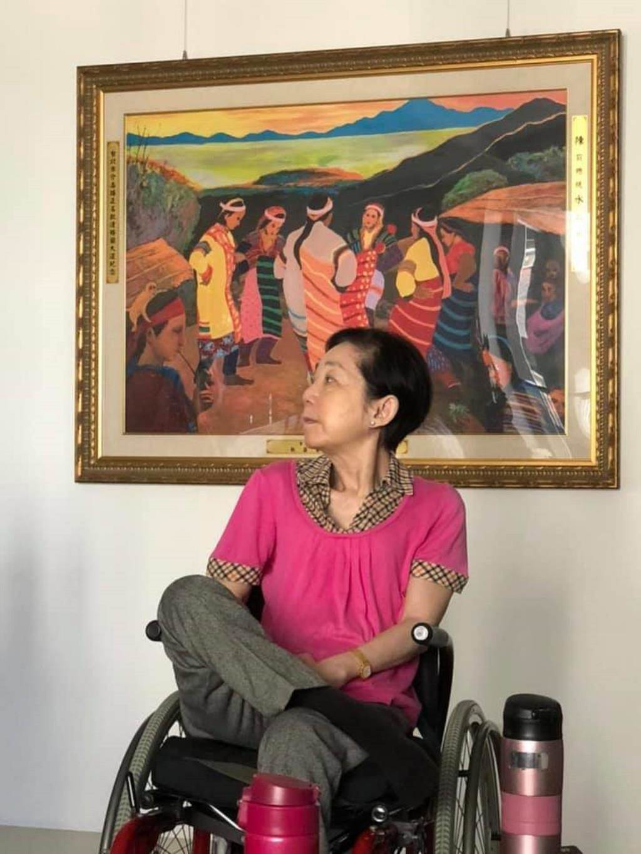 陳致中17日在臉書貼出媽媽吳淑珍最新近照。(翻攝陳致中臉書)