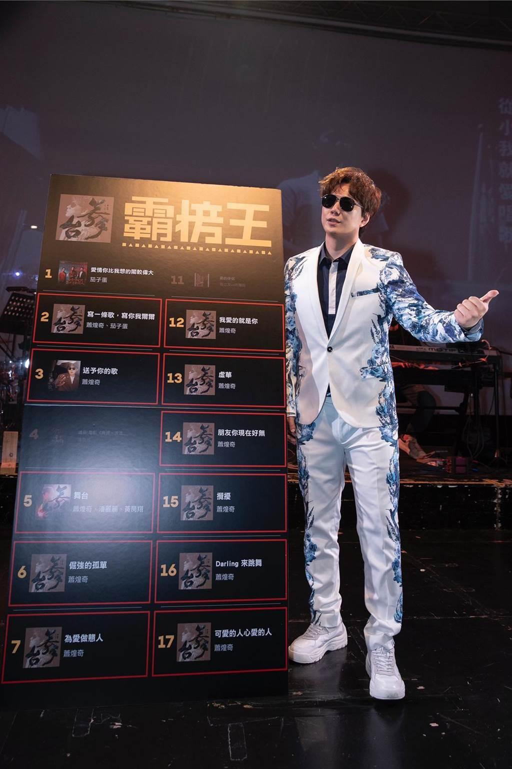 蕭煌奇最新台語專輯《舞台》霸榜成績傲人。(環球音樂提供)
