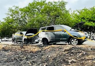 公園旁休旅車捲入無名烈火燒成廢鐵 車主痛心疾首慘叫