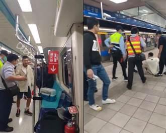 捷運上演博愛座爭霸戰 場面火爆1男連嗆多人 保全制止無效