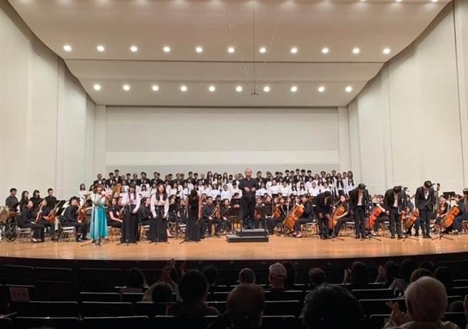 台南應用科技大學音樂系14日晚間在台南文化中心舉行3校聯合演出。(南應大提供/曹婷婷台南傳真)