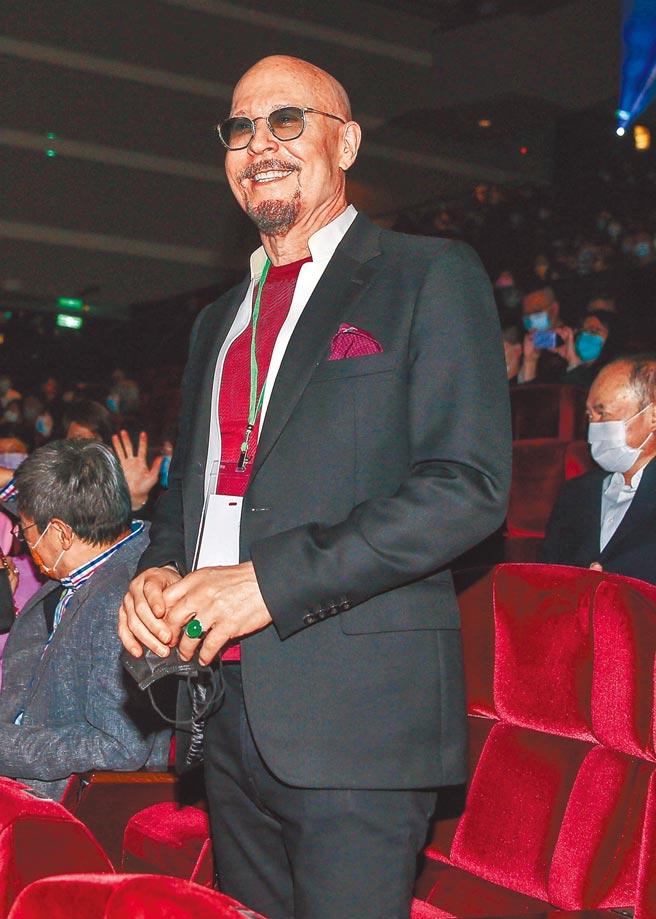 坣娜外籍老公薛智偉在台下力挺。(粘耿豪攝)