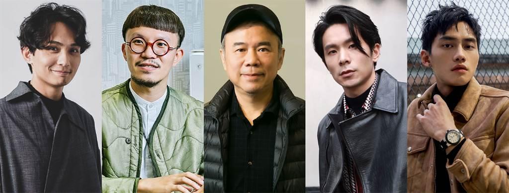 第二屆LEXUS MY FILM影片競賽,由導演陳玉勳(左三)擔任評審長,帶領殷振豪(左一)、郭憲聰(左二)、姚淳耀(右二)、范少勳(右一)一同擔任評審。
