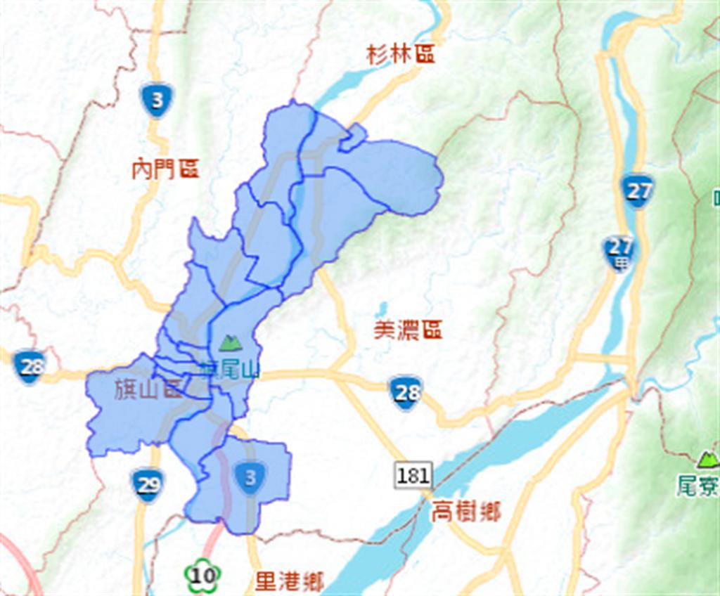 台灣自來水官網上公告,高雄市21日2地區將停水12小時。(圖截取自官網)