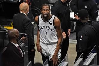 NBA》杜蘭特打4分鐘就又傷退 籃網慘遭絕殺