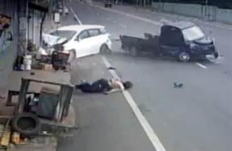貨車與休旅車對撞 司機彈飛出車外