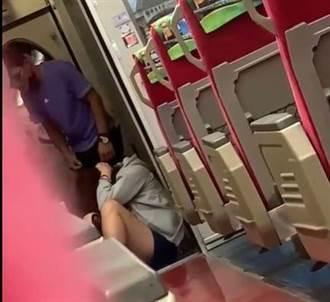 台鐵莒光號驚見疑似家暴事件 女乘客遭拖行毆打頭撞牆