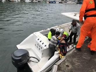 宜蘭2釣客落海 穿救生衣保命