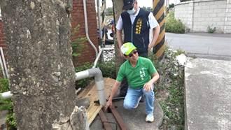 大甲興安路水井枯竭無水可用 吳敏濟協助爭取自來水解套