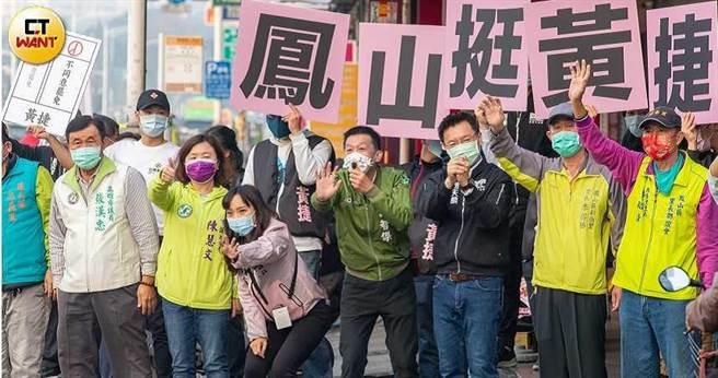 黃捷今年二月面對罷免案,在民進黨全力動員下渡過難關,她也「知恩圖報」狂批柯文哲。(圖/宋岱融攝)