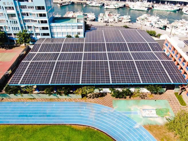裕隆搶攻綠能事業,旗下裕電打造「陽光球場」,將原本的露天球場進行改造。(裕隆提供)