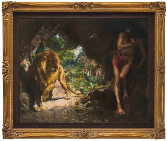 (《奴隸與獅》5月上拍,目前暫居史上最高估價亞洲藝術品。圖/佳士得提供)