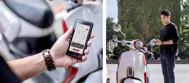 打開手機APP,就能在附近找到機車停放,即可自助租借騎乘,輕鬆暢走城市大街小巷。(圖/iRent提供)