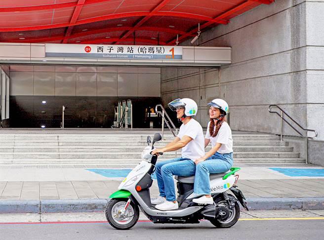 WeMo在高雄有1千輛電動機車,規劃多種包月套裝,並與高鐵合作推出優惠方案。(圖/WeMo Scooter提供)