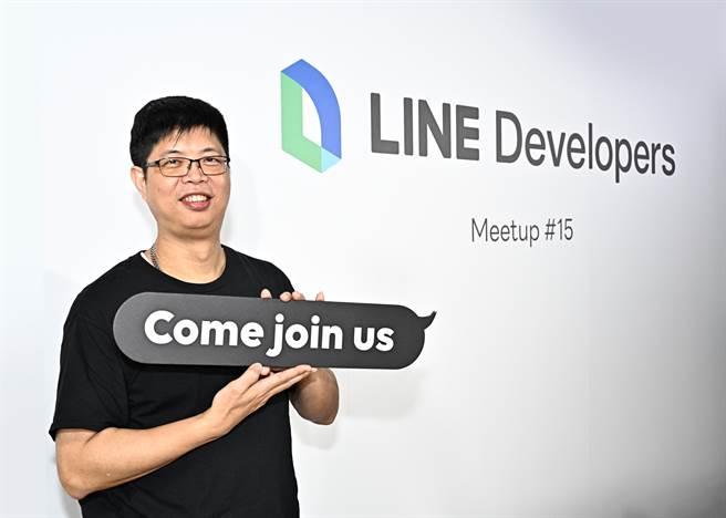 LINE台灣技術長陳鴻嘉歡迎優秀人才加入LINE研發工程團隊。(LINE提供/黃慧雯台北傳真)