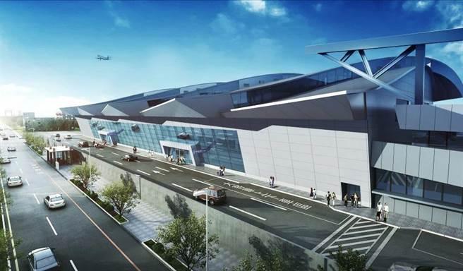 國內航廈整建後陸側外觀示意圖。(民航局提供/陳淑娥台中傳真)