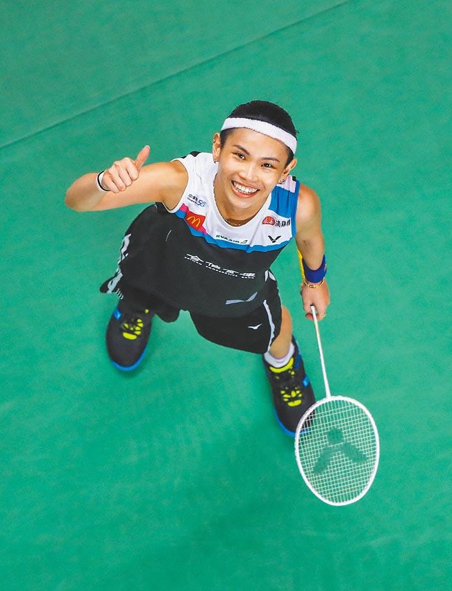 「世界球后」戴資穎1月底在泰國曼谷贏得世羽聯年終總決賽冠軍,是我國東奧摘金的希望之一。(Badminton Photo提供)