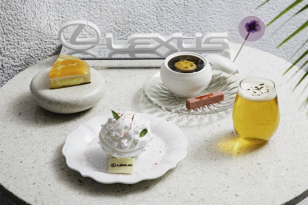 Lexus攜手Season打造法式聯名午茶組,期間限定單人午茶組760元+10%可享一套三款甜點及飲料。