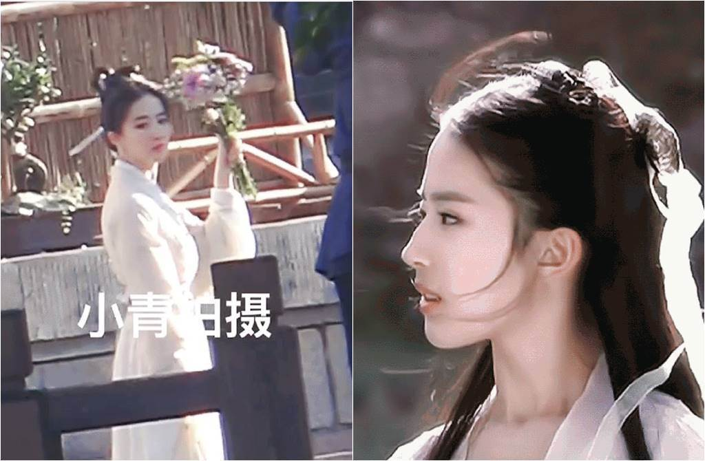 劉亦菲一個回眸電翻眾人。(圖/翻攝自鳳凰網娛樂微博)
