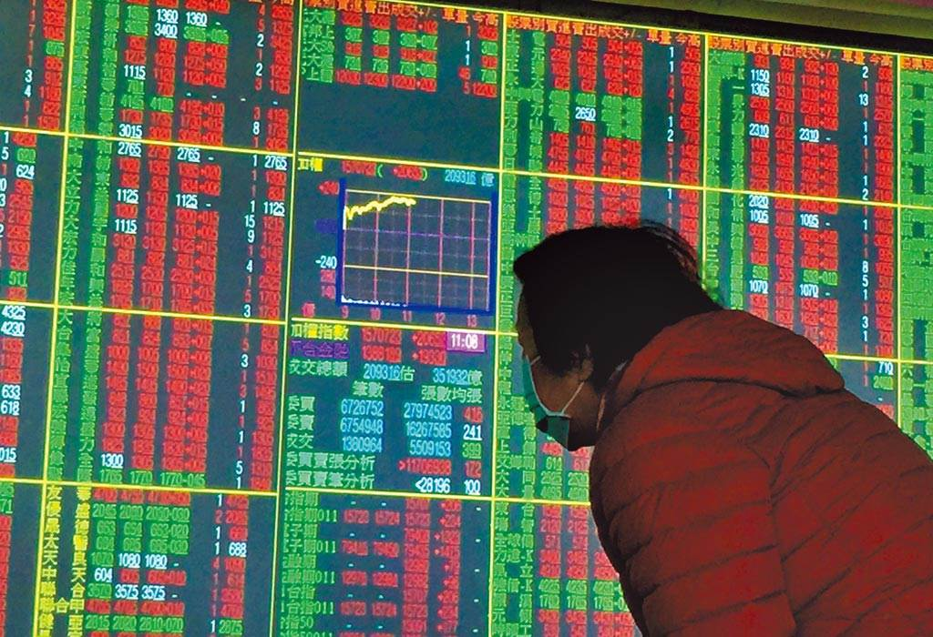 美股四大指數周一全數收黑,台北股市今(20日)開低震盪走高。(資料照)