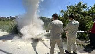 長榮與蘆竹消防分隊合作 訓練416人滅火實務經驗