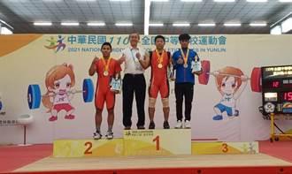 不斷超越自己 玉井工商楊偉達連2年舉重73公斤級破全中運紀錄