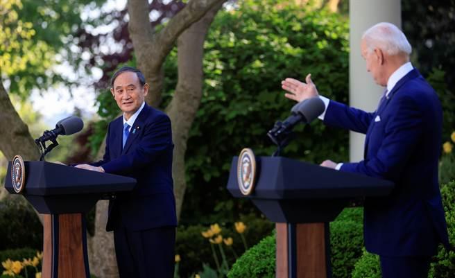 當美國回過頭來重新鞏固美日的同盟關係時,對於因中國崛起而受到壓力的日本,以及國內聲望低落的菅義偉而言,既有時機上的巧合,也有無法選擇的必然性,必須成為美國制中的馬前卒。(圖/路透)
