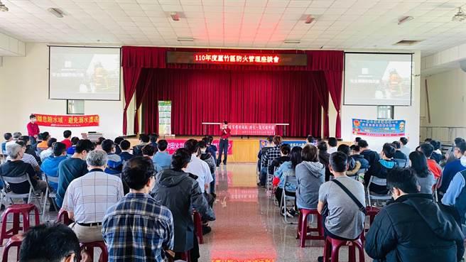 桃消20日舉辦蘆竹區防火管理宣導活動。(姜霏翻攝)