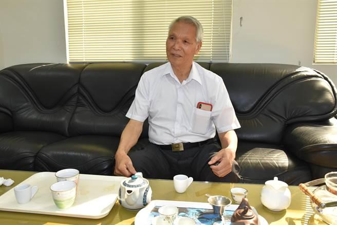 廣源造紙公司董事長謝廣源一手打造廣達57公頃的竹南廣源科技園區。(謝明俊攝)
