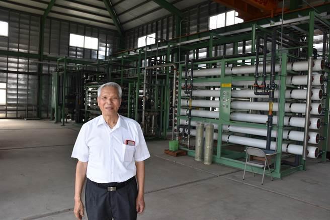 廣源科技園區第2廢水處理廠內還設有RO逆滲透設備,每天可生產1千5百噸民生用水。(謝明俊攝)