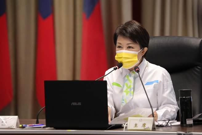 台中市長盧秀燕表示,台中捷運綠線3月23日起試營運,將於4月25日上午舉辦通車典禮,中午12時正式通車。(盧金足攝)