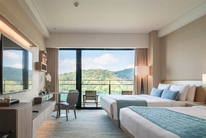 雲品溫泉酒店的山景客房。(雲朗觀光集團提供)