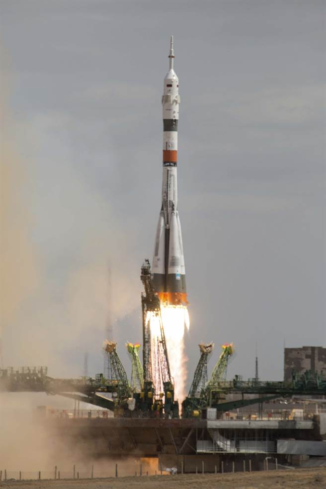 從國際太空站建造以來,俄國的聯盟號太空船一直是太空站運補的最主要工具。(圖/美聯社)