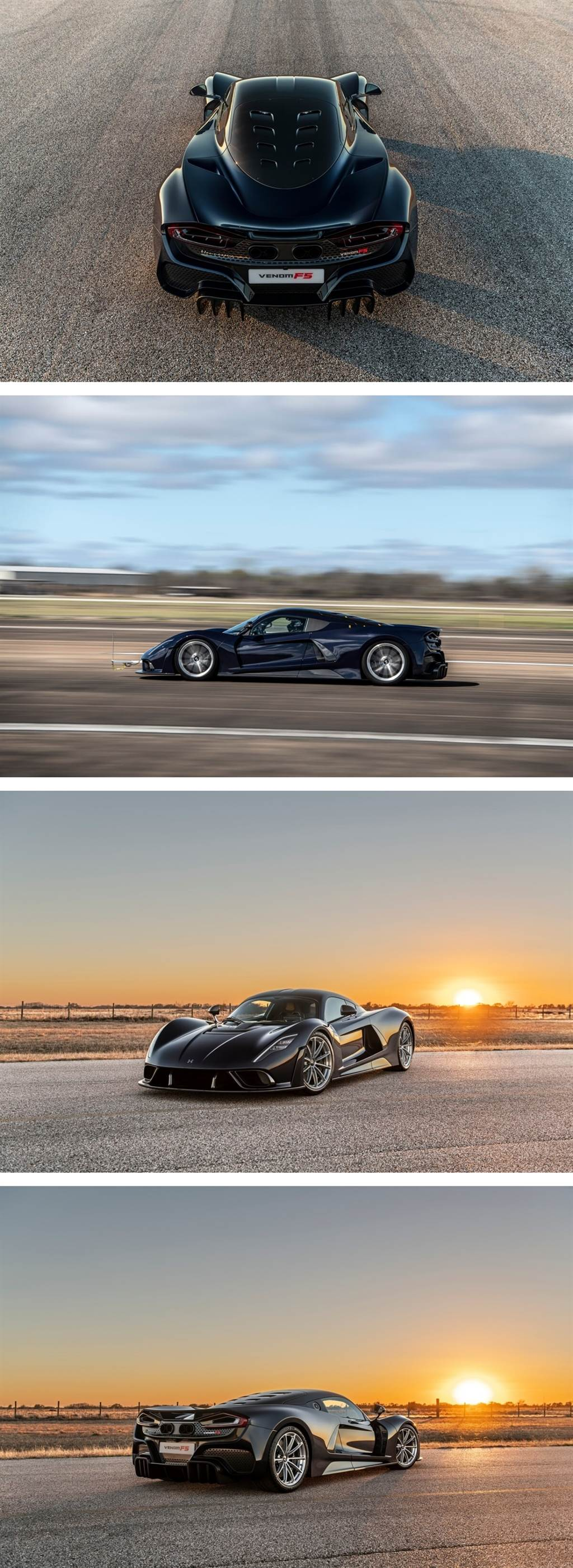 Hennessey完成Venom F5第一輪空氣力學測試,終極目標極速:500 km/h!