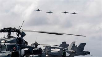 美F16罕见挂弹奔赴南海护持航母 对扰台共机发出讯号