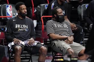 NBA》籃網拉警報 哈登腿傷復發將無限期缺賽