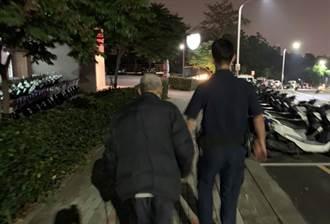 9旬老翁外出迷途 中市警及時尋獲助返家